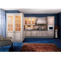 Wholesale Soild Wood / Maple White Kitchen Wall Cabinets With Glass Doors L Shaped from china suppliers