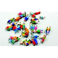 Wholesale Colorful Architectural Scale Model People Painted Figures 1.3cm from china suppliers