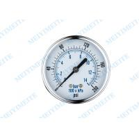 Wholesale Reliable pressure water gauge , general pressure gauge back with chrome bezel from china suppliers