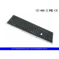 Wholesale Rugged Panel Mount Black Metal Keyboard With Trackball Function Keys And Number Keypad from china suppliers