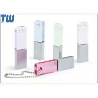 Wholesale Slim Rectangle Crystal Pen Drive Colorful with Free Ball Chain from china suppliers