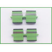Wholesale Green SC Fiber Optic Connector Adapters / Optical Fiber Adapter Single Mode from china suppliers