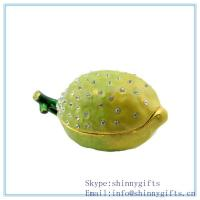 Wholesale Artificial Green Lemons, 3 Inches, Faux Fruit Box for Decoration Made of Pewter SCJ164 from china suppliers
