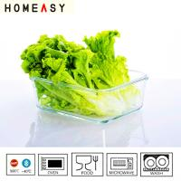 Quality Heat Resistant Rectangular Glass Storage Containers Oven Safe , Pyrex Glass Food Container for sale