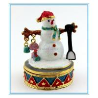 Wholesale Snowman Jewelry box for Christmas Gifts from china suppliers