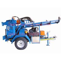 Wholesale High Rotary Torque Hydraulic Trailer Mounted Portable Water Well Drilling Machines with DTH Hammer from china suppliers