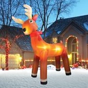 Wholesale Inflatable Reindeer PVC Santa Claus Transportation Inflatable Christmas Decorations from china suppliers
