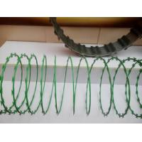 Wholesale Anti Aging Stainless Steel Razor Wire , Razor Barbed Tape Wire 600MM Diameter from china suppliers