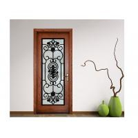 Wholesale Advanced Custom Wrought Iron Entry Doors Iron Mosaic Glass Thickness 20-30 Mm from china suppliers