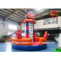 Wholesale Backyard Children Fire Truck Cartoon Inflatable Rock Climbing Wall For Rental from china suppliers