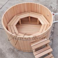 Wholesale Cedar Fence Wooden Barrel SPA Hot Tub , Wood Fired Bathtub No Electricity from china suppliers
