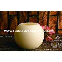 Wholesale Round Ball Shaped LED Wax Candle With Distressed Finish for Hotel Decoration from china suppliers
