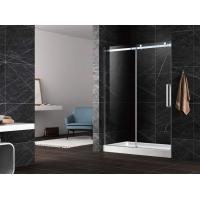 """Wholesale Sliding shower door with flat sliding stainless steel 304 rail shower enclosure 60"""" width from china suppliers"""
