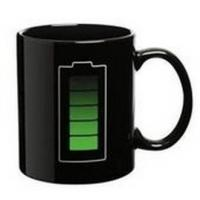 Quality 11OZ H8.5*w9.2cm ceramic change colors mug power magic mug  battery black cup for sale