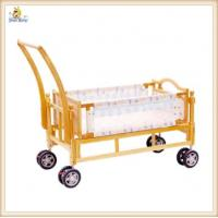 Wholesale Small Folding Wooden Baby Convertible Crib With Wheels 3 In 1 OEM ODM from china suppliers