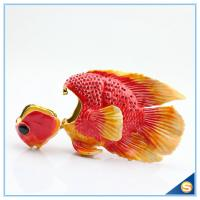 Wholesale Enamel Metal Fish Shape Jewelry Box Hand Painted Trinket Box SCJ783 from china suppliers