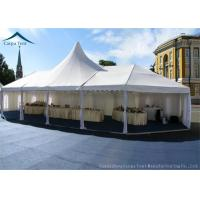 Wholesale 10m * 20m Hot Sale Aluminium Frame Large Wedding Marquee Mixed Tents With Luxury White Color And Linings Curtain from china suppliers