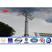 Quality 110kv bitumen electrical power pole for electrical transmission for sale