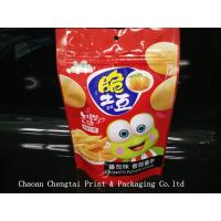 Wholesale Potato Zipper Snack Packaging Bags With 110 Micron Thickness , 100g from china suppliers