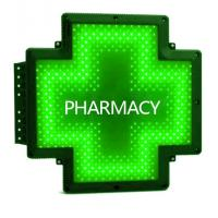 Wholesale Green Outdoor Pharmacy Cross Sign P10 Full Color Electronic LED Display from china suppliers