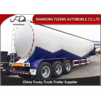 Wholesale 80 tons Cement Tanker Trailer , 3 axles Mobile Horizontal Cement Fly Ash Silo Semi Trailer for Sale from china suppliers