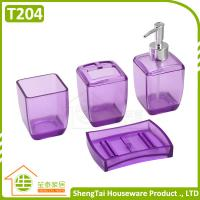 Wholesale Latest Fashion Design Transparent Color Plastic Bathroom Sets For Bathroom Decor from china suppliers