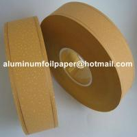 Quality High quality and best price 35gsm gold line yellow cork cigarette tipping paper with custom logo for sale