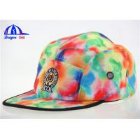 Wholesale Lady's Fashion Custom 5 Panel Cam Snapback Cap from china suppliers