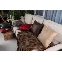 Quality Comfortable Knitting Leather Imitated / Faux Leather Cushions Oil Repellent for sale