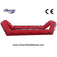 Wholesale High Performance Inflatable Rescue Boat , Red Towable Army Inflatable Boats from china suppliers