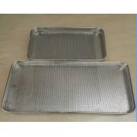 Wholesale Food Grade SS Trays / Perforated punched metal mesh Stainless Steel Tray from china suppliers