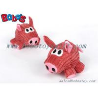 Wholesale Stuffed Dark Pink Pig Animal Peet Toy With Squeaker as gift for dog cat from china suppliers