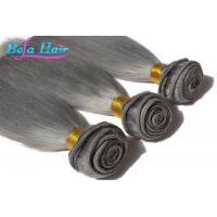 Wholesale Dyed Color European Human Hair Extensions Grey Human Hair Weaving from china suppliers