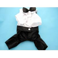 Wholesale Customized White Black Boy Pet terrier Dog Formal Wear For Wedding Party from china suppliers
