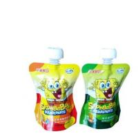 Wholesale Custom Logo Printing Fancy Stand Up Plastic Fruit Juice Jelly Beverage Packaging Pouch Cheer Pack With Spout from china suppliers