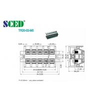 Wholesale Black PCB 10.8mm Panel Mounted Terminal Block Screw Barrier Type from china suppliers