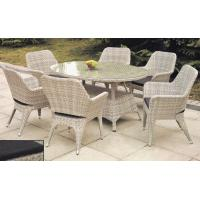 Wholesale PE rattan furniture, wicker garden furniture, outdoor chair, glass table, #1209 from china suppliers