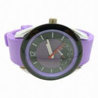 Wholesale Pure Silicone Solar Digital Watch, Waterproof, Healthy and Environmental Sports Watch from china suppliers