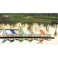 Wholesale Colorful Stackable Patio Furniture Lounge Chair , Aluminum Chaise Lounge Pool Chairs from china suppliers