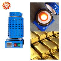 Buy cheap Working temp 1150C gold melting furnace metal casting machinery JC-K-110-1 from wholesalers