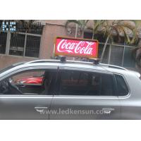 Wholesale 3G P5 P6 Taxi Roof LED Display / Taxi Top Sign For Dynamic Advertising 1/8scan 21kg/PCS from china suppliers