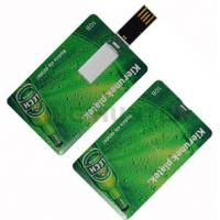Wholesale full color printing Credit card Logo printing USB Flash Memory disk from china suppliers