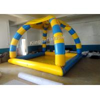 Wholesale Heat Sealed Inflatable Swimming Pools 5*4*5m Blue And Yellow With 800w Air Pump from china suppliers