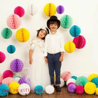 Wholesale Party Wedding Decoration Paper Craft Tissue Paper Honeycomb Balls Pom Pom Flower Ball from china suppliers