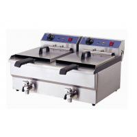 Wholesale Double Tank Commercial Electric Deep Fryer For Fast Food / Snacks from china suppliers