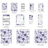 Wholesale Business Blank Spiral Bound Index Cards With Mixed Navy Dots organize documents from china suppliers
