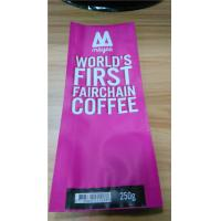 Wholesale Rose Side Gusset Coffee Bag Plastic Pouches Packaging With Customized Logo from china suppliers