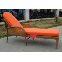 Quality Garden beachside lounge chair waterproof rattan sun lounger for sale