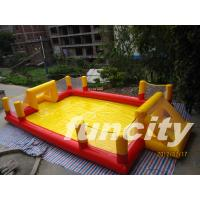 Wholesale Popular Red And Yellow Inflatable Soccer Field Indoor Or Outdoor from china suppliers
