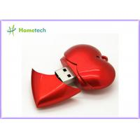 Wholesale Plastic Red Heart USB Flash Memory USB Device Full Capacity 1GB / 2GB / 4GB from china suppliers